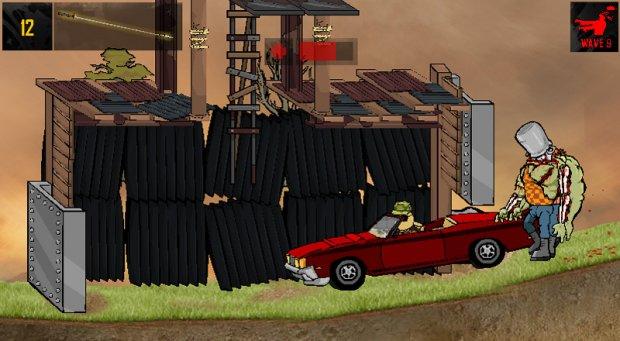 Кадр из игры Зомби
